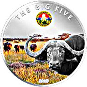 100 Francs CFA (Les Big Five : le buffle d'Afrique) – revers
