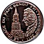 100 Francs CFA (Journey of Pope Benedict XVI) – revers