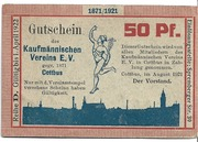 50 Pfennig (Kaufmannischer Verein) – avers