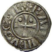 Denier à l'étoile et au croissant - Raymond II ou III – avers