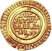 "Bezant ""Saracen"" - Crusarder imitation - in the name of al-Mustansir (Tripoli) – avers"