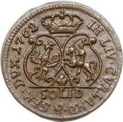 1 solidus Charles de Saxe (Mitau; bouclier courbes) – revers