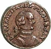 1 solidus Charles de Saxe (Mitau; boucliers angulaires) – avers