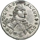 1 grossus Charles de Saxe (Mitau; boucliers ronds) – avers