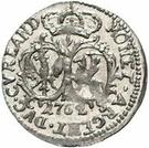 1 grossus Charles de Saxe (Mitau; boucliers ronds) – revers