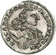 1 grossus Charles de Saxe (Mitau; boucliers courbes sans guirlande) – avers