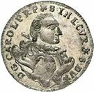 1 grossus Charles de Saxe (Mitau; boucliers courbes avec guirlande) – avers