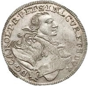 6 grossus Charles de Saxe (Mitau) -  avers