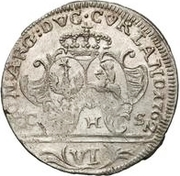 6 grossus Charles de Saxe (Mitau) – revers