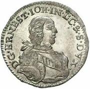 3 grossus Ernst Johann von Biron (Mitau) – avers