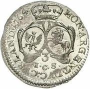 3 grossus Ernst Johann von Biron (Mitau) – revers
