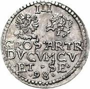 3 grossus Guillaume Kettler (Mitau; sans bouclier) – revers