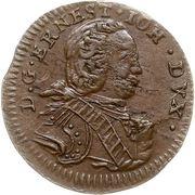 1 solidus Ernst Johann von Biron (Mitau) – avers