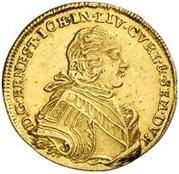 1 dukat Ernst Johann von Biron (Mitau; grand buste) – avers