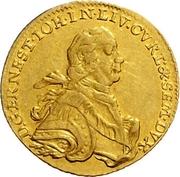 1 dukat Ernst Johann von Biron (Mitau; petit buste) – avers