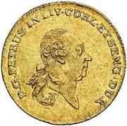 1 dukat Pierre von Biron (Mitau) – avers