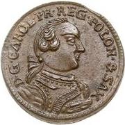 1 solidus Charles de Saxe (Mitau; bouclier courbes) – avers