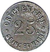 25 Centimes - Union Commerciale - Crecy en Brie [77] – avers