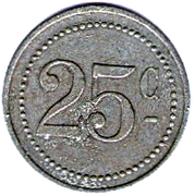 25 Centimes - Union Commerciale - Crecy en Brie [77] – revers