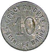 10 Centimes - Union Commerciale - Crecy en Brie [77] – avers