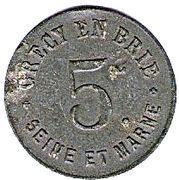 5 Centimes - Union Commerciale - Crecy en Brie [77] – avers