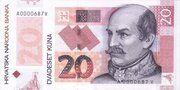20 Kuna (20th Anniversary of National Bank) – avers