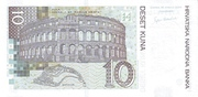 10 Kuna (10th Anniversary of National Bank) – revers