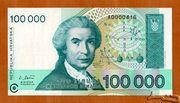 100 000 Dinara – avers