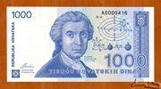 1000 Dinar – avers