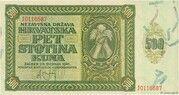 500 Kuna – avers