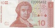 10 dinara – avers
