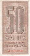 50 Banica – avers