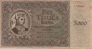 5000 Kuna – avers