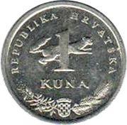 1 kuna (5ème anniversaire) -  revers