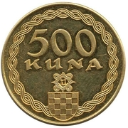 500 kuna (Ante Pavelic) – revers