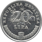 20 lipa (Olea europaea) -  revers
