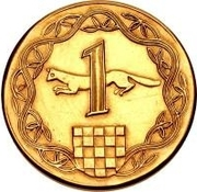 1 Kuna (Pattern) – revers