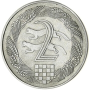 2 Kuna (Pattern; nickel) – revers
