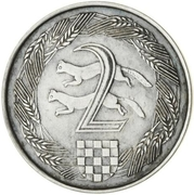 2 Kuna (Pattern; silver) – revers