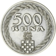 500 Kuna (Pattern) – revers
