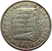 50 centavos (José Marti) -  avers
