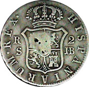 2 Reales - Colonial Countermarked Coinage – revers