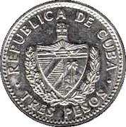3 pesos Che Guevara (cupronickel) -  avers