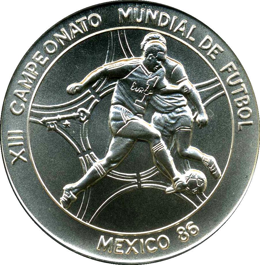 5 pesos coupe du monde de football de 1986 au mexique cuba numista - Coupe du monde mexique 1986 ...