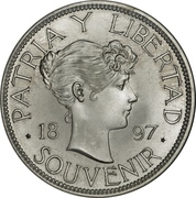 Souvenir Peso (Date closely spaced) – revers