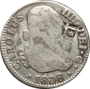 2 Reales (Colonial Countermarked coinage) – avers