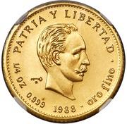25 Pesos (José Martí; Piedfort) -  avers