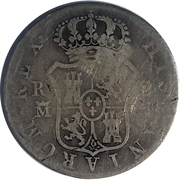 2 Reales (Countermarked) – revers