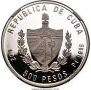 500 Pesos (40th. Moncada Anniversary) – avers