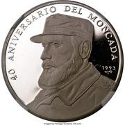 500 Pesos (40th. Moncada Anniversary) – revers